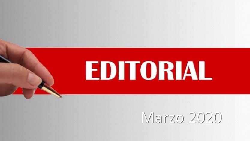 En este momento estás viendo Editorial marzo 2020