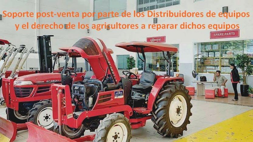 Lee más sobre el artículo Soporte postventa por parte de los distribuidores de equipos y el derecho de los agricultores a reparar dichos equipos